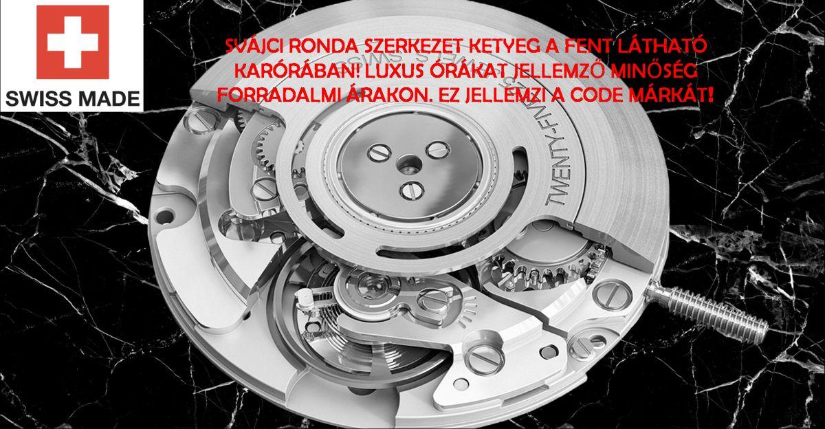 db0070-11 svájci szerkezet full fekete szövött fém code inspired by ... 7cb6c5da94